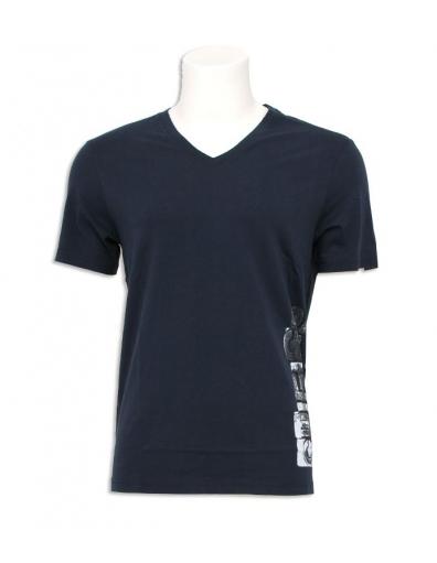 Guess - Logo - Blauw - T-shirts
