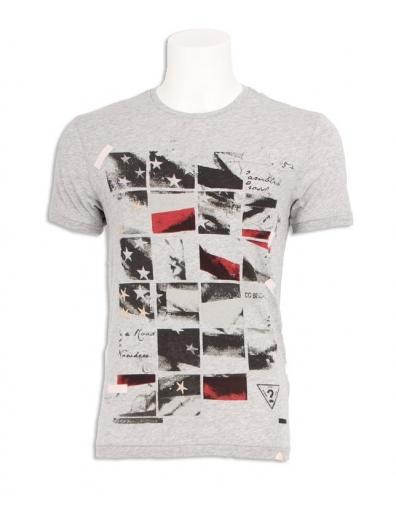 Guess - Flagger Tee - Grijs - T-shirts