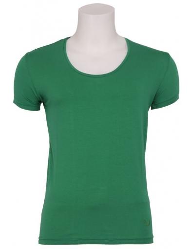 Zumo - Stuart - Wide O-neck T-shirt green - Groen - T-shirts