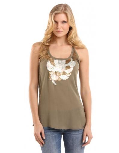 Guess - Guess - abbey ggt - Bruin - T-shirts & Tanktops - Groen - T-shirts & Tanktops