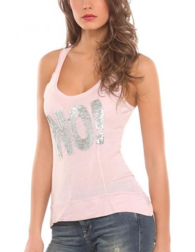 Guess - Sl tank - Roze - T-shirts