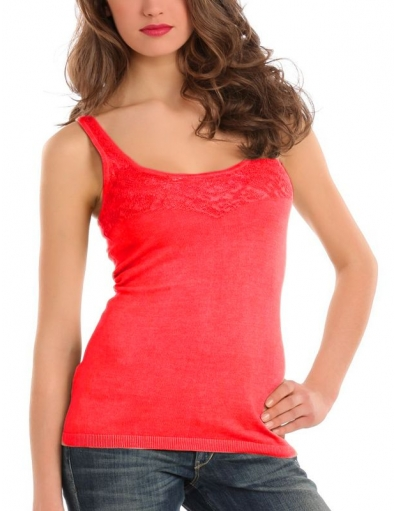 Guess - Ivie tank - Rood - T-shirts