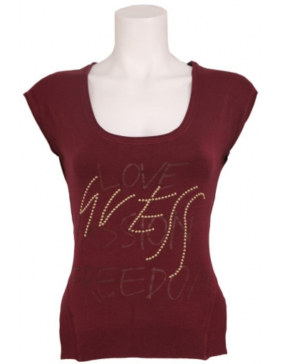 Guess - SS BN ANNABELLE SWTR - Rood - T-shirts