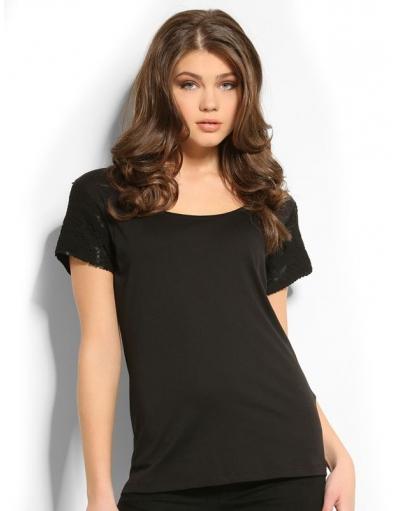 Guess - 9996 MARICE KNIT TOP - Zwart - T-shirts