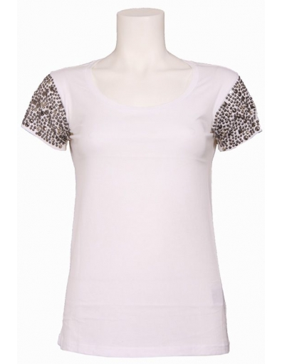 Guess - 000 MARICE KNIT TOP - Wit - T-shirts
