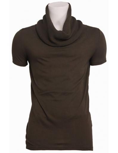 Zumo - 6008 Entreat - t-shirt knitted cotton sca - Groen - T-shirts