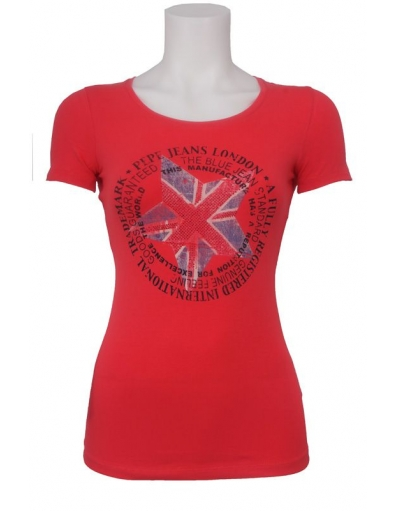 Pepe Jeans - New Anna - Rood - T-shirts
