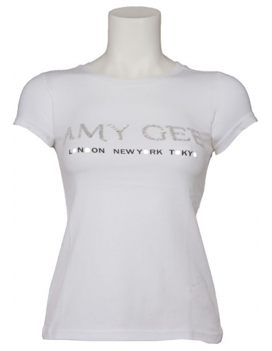 Amy Gee - Glitter - Wit - T-shirts