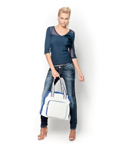 Amy Gee - lange mouw - Blauw - T-shirts
