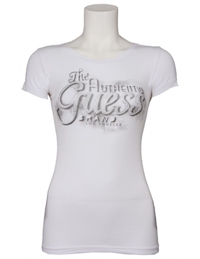 Guess - Marquee Tee - Wit - T-shirts