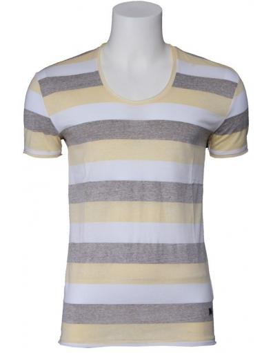 Antony Morato - stripes - Wit - T-shirts
