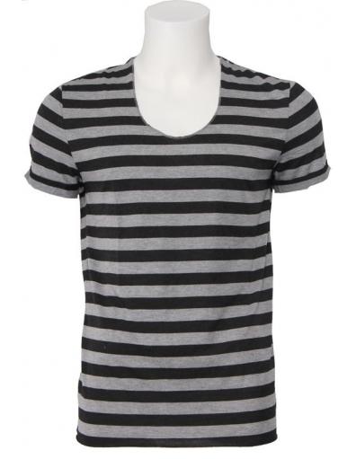 Antony Morato - gestreept - Grijs - T-shirts