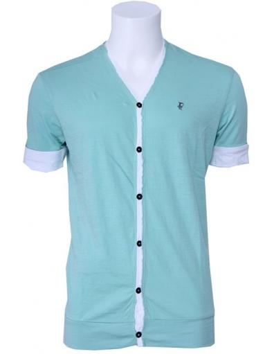 J.C. Rags - tee Cardigan - Groen - T-shirts
