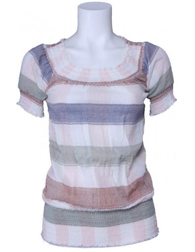 Dept - gestreept - Whisper white - Wit - T-shirts