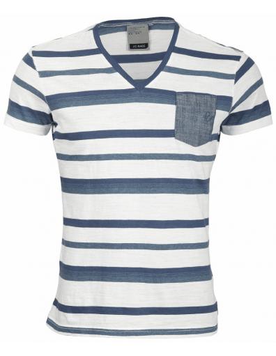 J.C. Rags - Seasonal collection/ Wit - Blauw - T-shirts