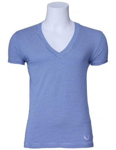 Zumo - Alec stripe - Blauw - T-shirts