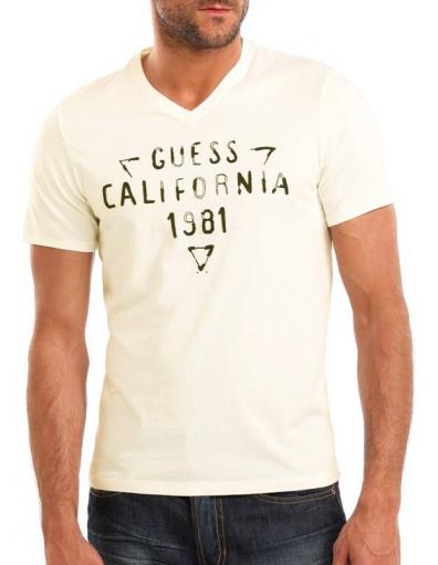 Guess - SS California Tee - crème - T-shirts
