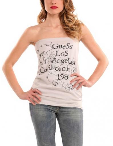 Guess - Edna Top Beige - Beige - T-shirts
