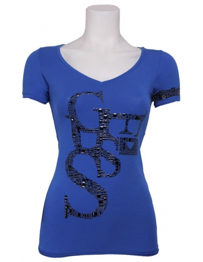 Guess - SS Artistic Tee - Paars - T-shirts