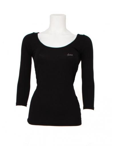 Guess - Lesley top - Zwart - T-shirts